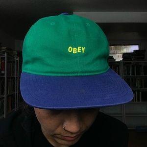 OBEY Worldwide Green + Blue SnapBack Hat